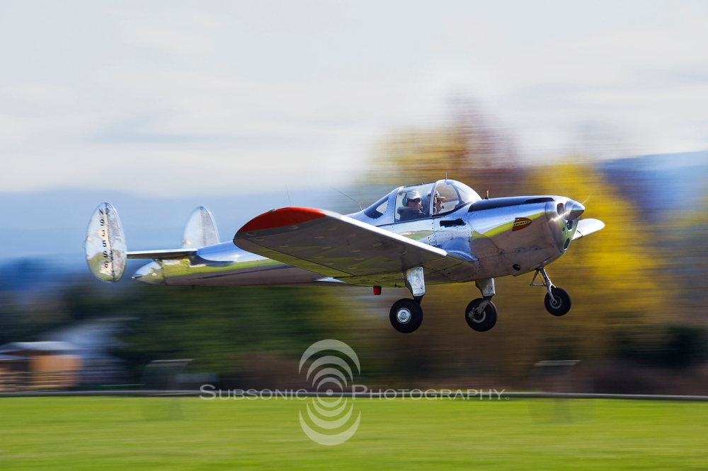 An ERCO Ercoupe takes off from W28.